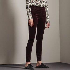 AG Denim Velvet Farrah Skinny Jeans Pants 28